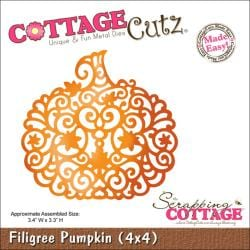 "CottageCutz Die 4""X4""-Filigree Pumpkin Made Easy"
