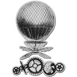 Stampendous Jumbo Cling Rubber Stamp-Steampunk Balloon