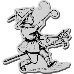 Stampendous Cling Rubber Stamp-Hobby Horse