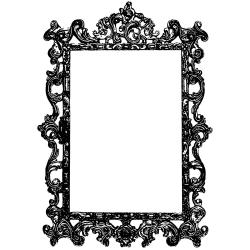 Donna Salazar Cling Stamp-Ornate Frame