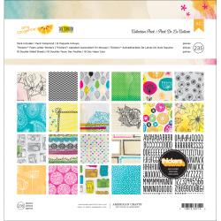 Amy Tangerine Sketchbook Collection Pack 12X12in