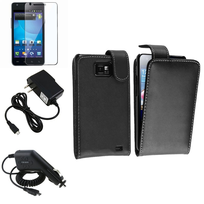 Black Case/ Chargers/ LCD Protector for Samsung Galaxy S II i777 AT&T