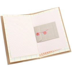 "American Crafts Daybook 5-1/2""X8-1/2""-I Heart You"
