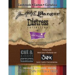 Core&#39;dinations Distress Cardstock By Tim Holtz 72/Pkg-4.25&quot; X 5.5&quot;