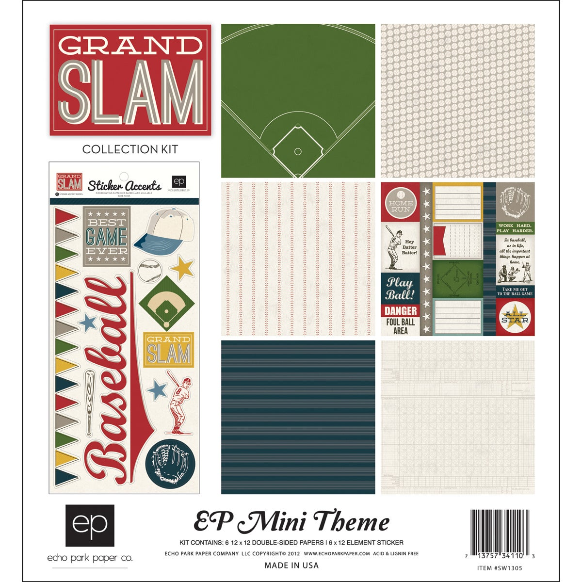 "Grand Slam Collection Kit 12""X12"""