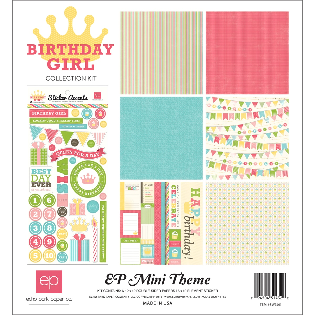 "Birthday Girl Collection Kit 12""X12"""
