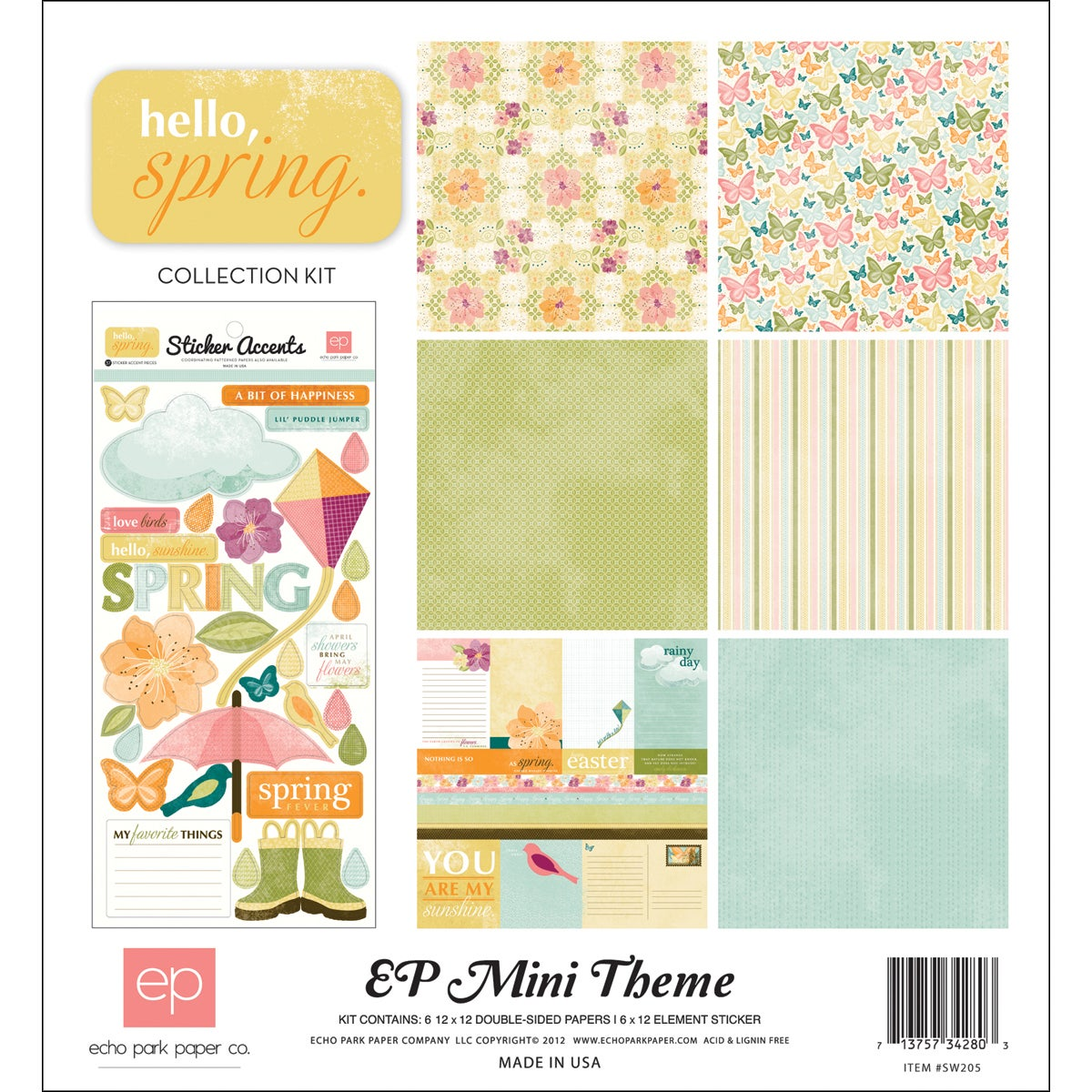 """Hello Spring Collection Kit 12""""X12"""""""