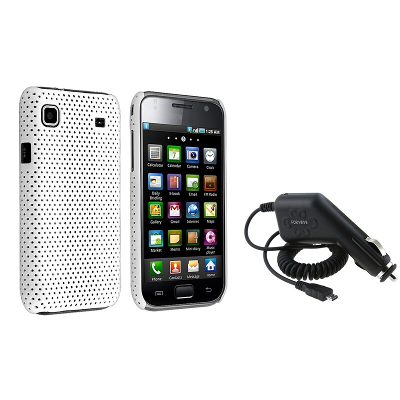 White Mesh Case/ Charger for Samsung Galaxy S i9000