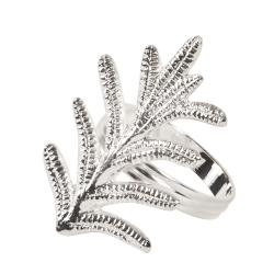 Fern Leaf Design Napkin Rings (Set of 4)