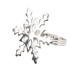Snowflake Shape Napkin Rings (Set of 4)