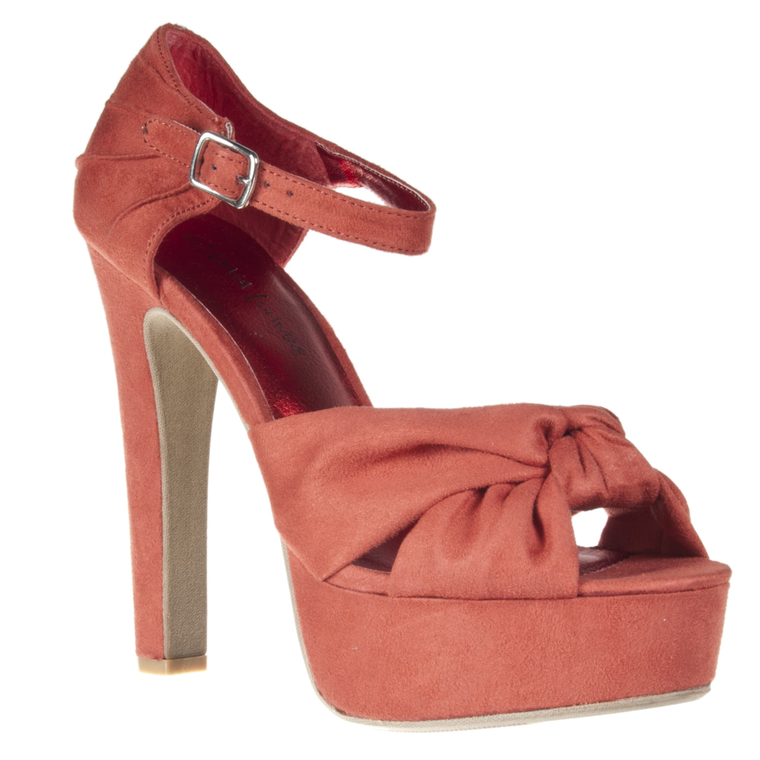 Riverberry Women's 'Sabine' Coral Faux Suede Peep Toes