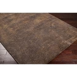 Hand-crafted Green Portage Wool Rug (2' x 3')