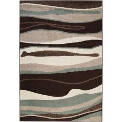 Woven Multicolored Oconto Geometric Stripes Accent Rug (2' x 3')