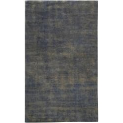 Hand-crafted Blue Portage Wool Rug (2' x 3')