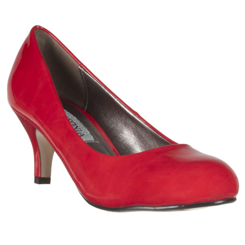 Riverberry Women's Red Patent Mid-Heel Pumps