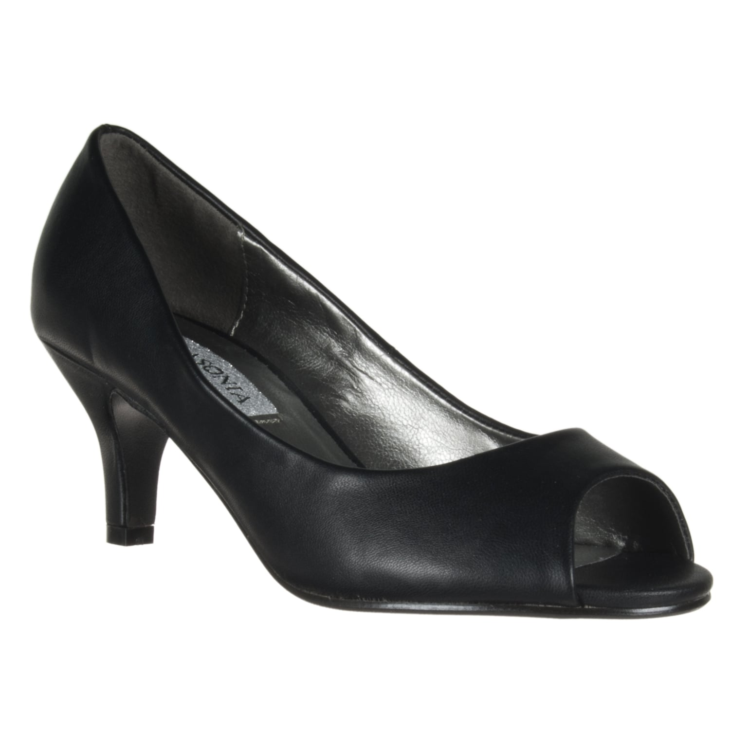 Riverberry Women's Black Peep Toe Pumps