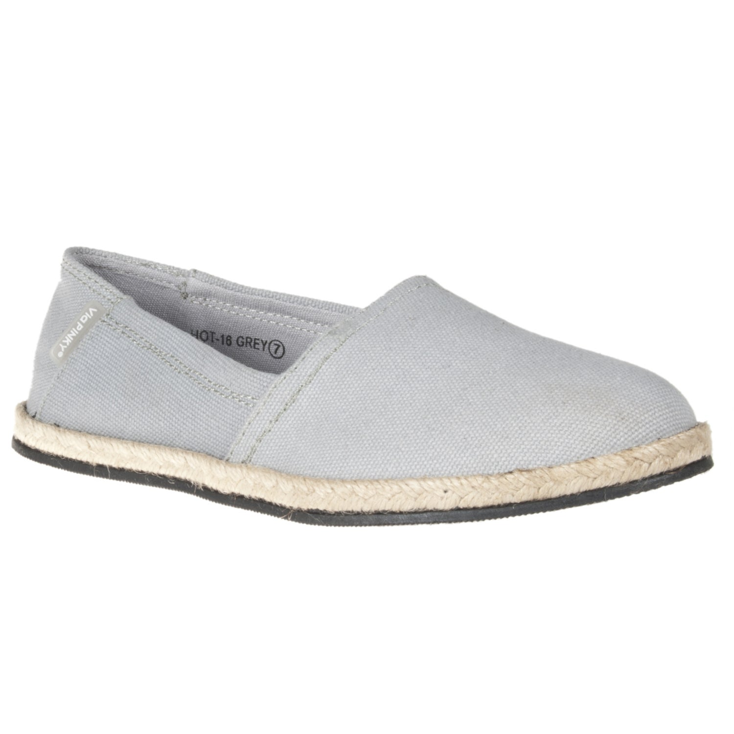 Riverberry Women's 'Hot' Grey Canvas Slip-ons
