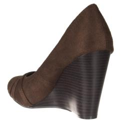 Riverberry Women's 'Dexter' Brown Microsuede Wedges