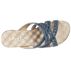 Riverberry Women's 'Comfort' Blue Padded Wedge Sandals