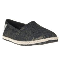 Riverberry Women's 'Hot' Metallic Canvas Slip-ons