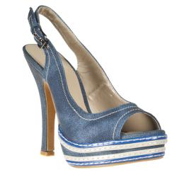 Riverberry Women's 'Coco' Peep Toe Platform Heel
