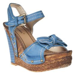 Riverberry Women's 'Shannon' Blue Wedged Sandals