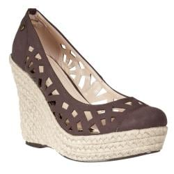 Riverberry Women's 'Avenue' Brown Die-cut Wedges