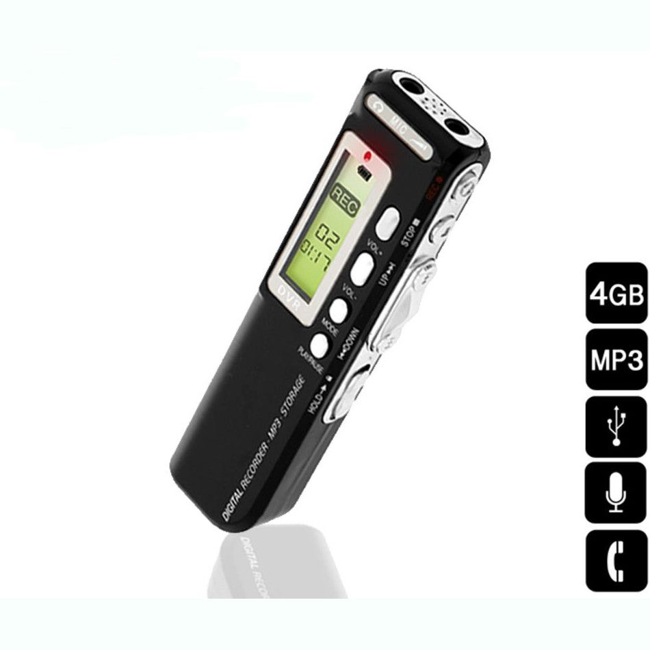 Vaas Audio 4GB USB Digital Voice Recorder with Telephone Adapter and Microphone