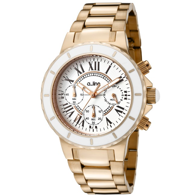 A Line Women's AL-20104DV Marina White Textured Watch