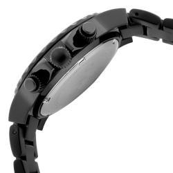 Women's 'Marina' Chrono Black Textured Dial Black Watch