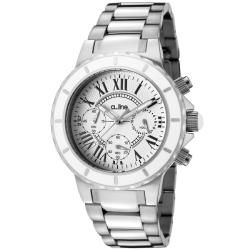 Women's 'Marina' Chronograph White Textured Dial Watch