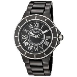 Women's 'Marina' Black Textured Dial Black Ceramic Watch