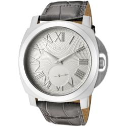 Women's 'Pyar' Grey Textured Dial Leather Watch
