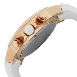 Women's 'Marina' Chronograph White Textured Dial White Watch
