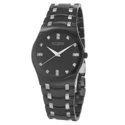 Wittnauer Men's 'Montserrat' Black Stainless Steel Quartz  Watch