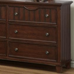 Alderson Warm Cherry Dresser and Mirror