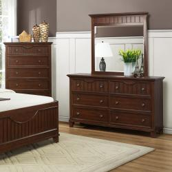 Alderson Warm Cherry 5-piece Cottage Queen-size Bedroom Set