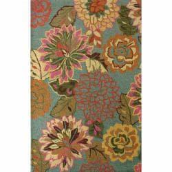 Handmade Luna Bold Floral Wool Rug (5' x 7'6)
