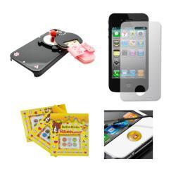 Apple iPhone 4/4S Sparkling Kimono Girl Compact Mirror Designer Case