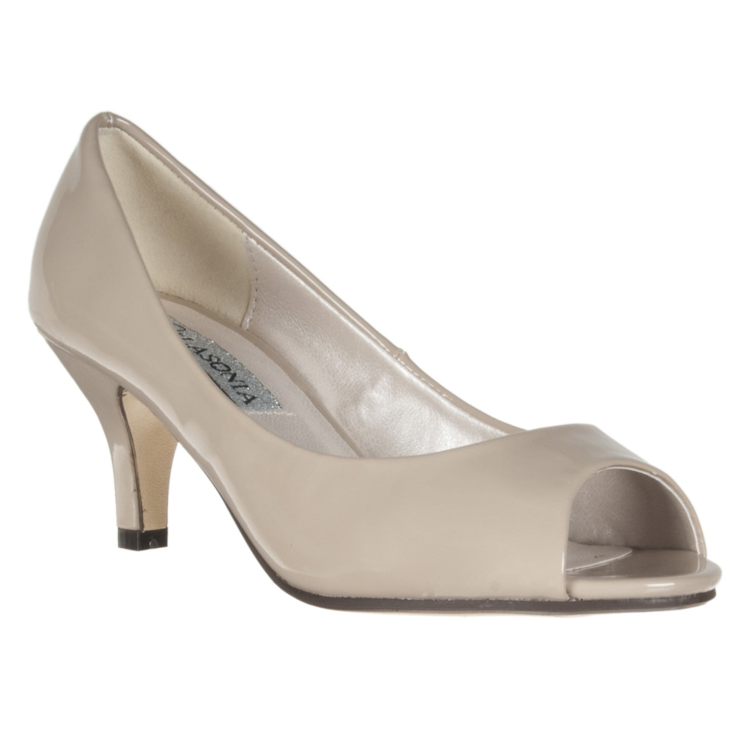 Riverberry Women's Nude Peep Toe Pumps