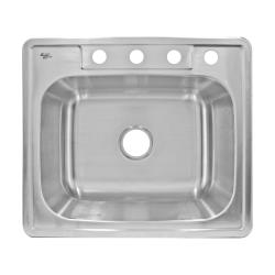 LessCare Top Mount Single Bowl Stainless Steel Sink