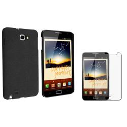 Black Matte Case/ Screen Protector for Samsung Galaxy Note N7000