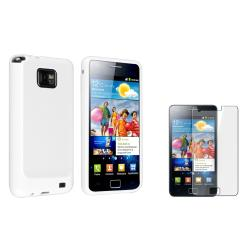 White TPU Case/ Screen Protector for Samsung Galaxy S II i9100