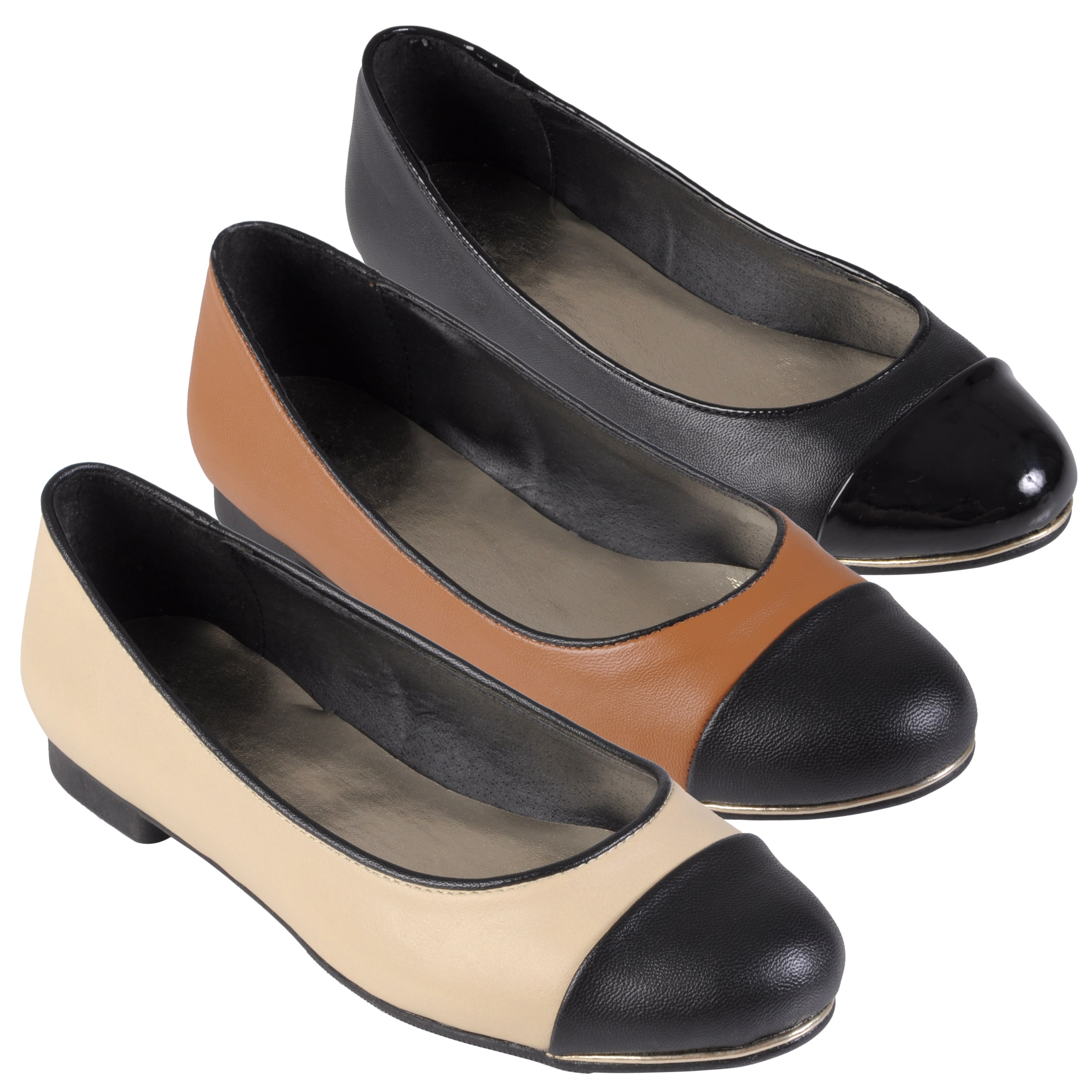Journee Collection Women's 'Mansion-15' Round Cap Toe Ballet Flats