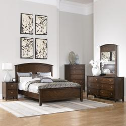Nurmes Warm Cherry Queen-size Transitional 5-piece Bedroom Set