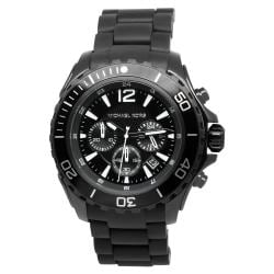 Michael Kors Men's MK8211 Black Silicone Quartz Watch with Black Dial