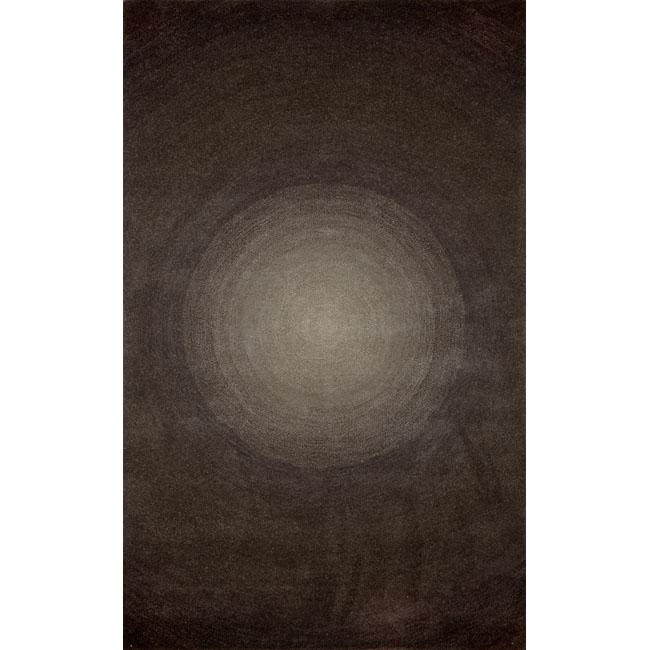 Hand-tufted Ripples Grey Wool Rug (2'3 x 8')