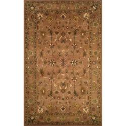 Hand-tufted Anatolia Brown Wool Rug (3'5 x 5'5)