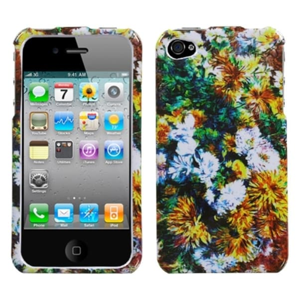 INSTEN Beautiful Blossoms Phone Case Cover for Apple iPhone 4/ 4S