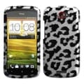 MYBAT Black Leopard/ 2D Silver Case for HTC One